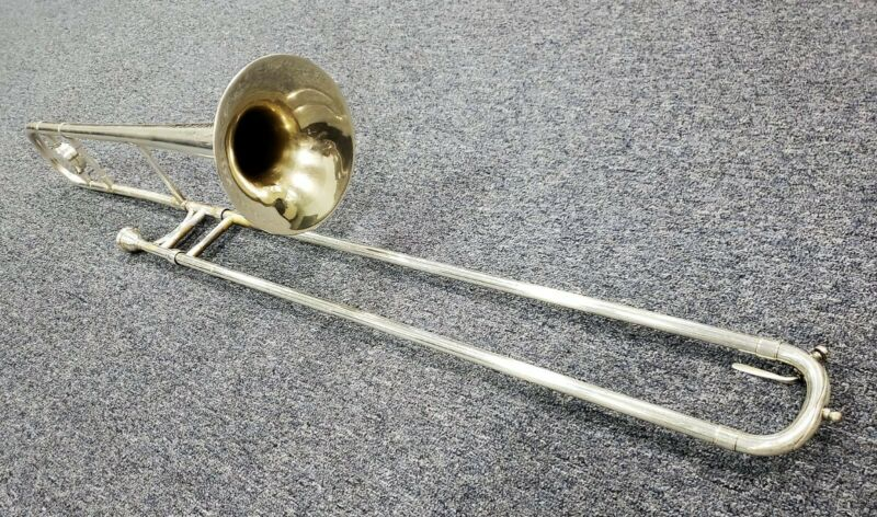 Vintage H.N. White King Silver Trombone with case. A steal!