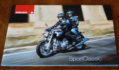 Ducati Sport Classic prestige brochure Prospekt, 2007 (French & German text)