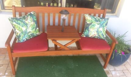 Timber Jack & Jill Bench Seat with cushions!