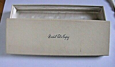 Vintage Satin Lined Marshall Field Company Wide Watch Bracelet Jewelry Gift Box