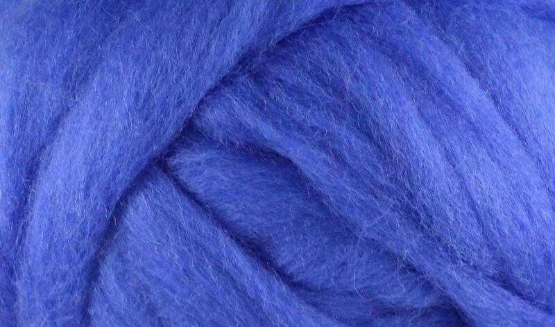 Wool Roving - 1oz - Cobalt Blue