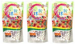 3 Packs of Wufuyuan Colour Tapioca Pearl 250g for Bubble Tea Drink Boba Milk tea