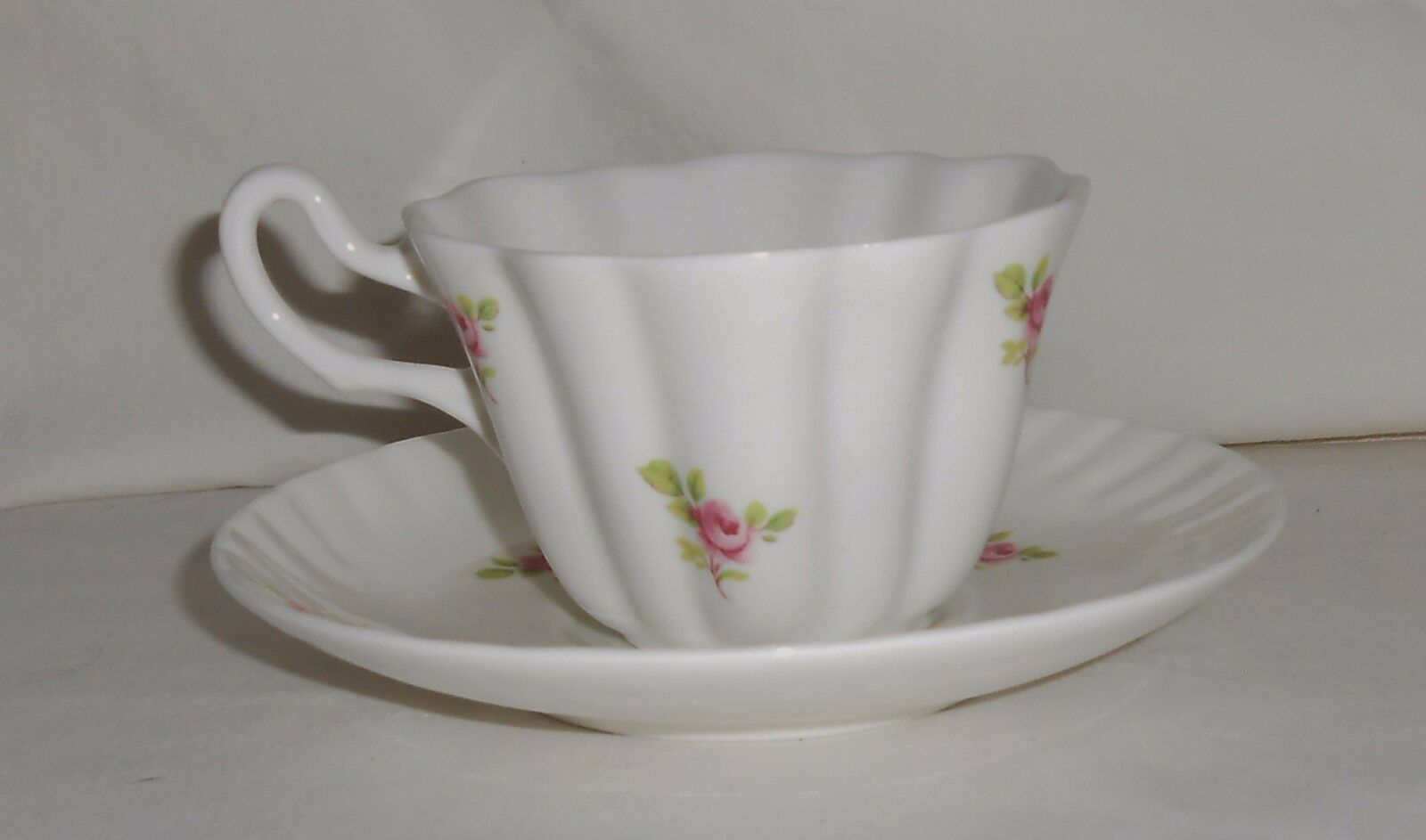 Royal Tara Ireland Fine Bone China Cup and Saucer with Rose Pattern