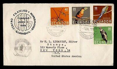 DR WHO 1958 ECUADOR FDC BIRD COMBO  g23983