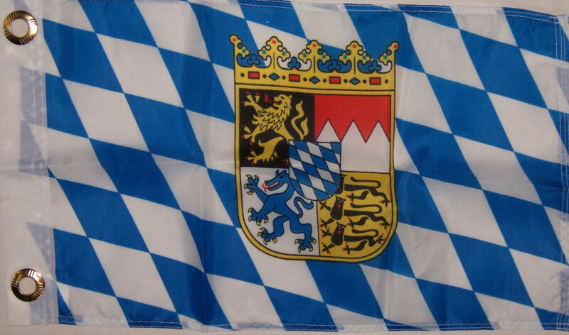 NEW 12x18 BAVARIA GERMAN GERMANY BOAT FLAG better quality usa seller