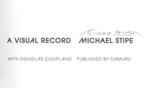 Michael Stipe signed A Visula Record Book, R.E.M. Rare signature.