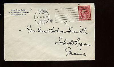 US Organization Advertising cover (US Geological Survey) 1912 Washington DC