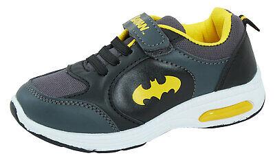 Batman Boys Light Up Sports Trainers Kids DC Comics Casual Skate Shoes Sneakers