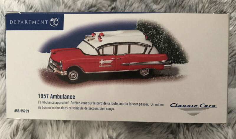 Department 56 Snow Village 1957 AMBULANCE! Classic Cars 55299