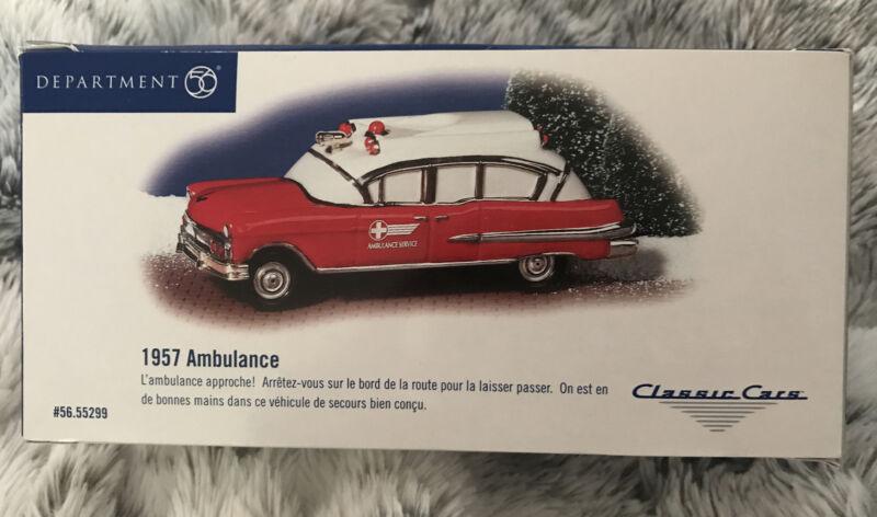 Department 56 Snow Village 1957 AMBULANCE! Classic Cars 55299