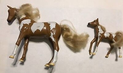 MMTL PINTO HORSES-LOT OF 2-1 LARGE & 1 SMALL-MOVEABLE HEADS (Small Horses)