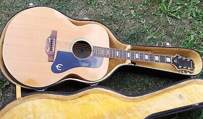 Half price BARGAIN! 1975 Vintage Epiphone acoustic not g ibson one w/FREE Case