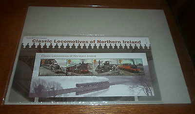 CLASSIC LOCOMOTIVES OF NORTHERN IRELAND ROYAL MAIL TRAIN  FULL SHEET SEALED