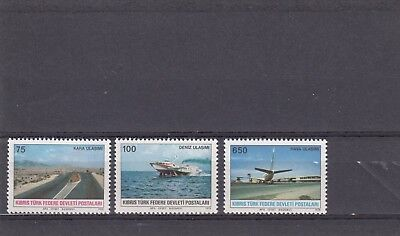 TURKISH CYPRIOT POSTS - SG65-67 MNH 1978 COMMUNICATIONS