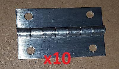10 Aluminum Boat - 10 pc Aluminum Butt Hinge 1-3/4 x 1.06 HOLES 19-0142 Craft/Door/Boat/Sheet/DIY