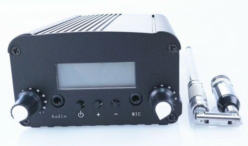 1W/7W 76-108MHZ ST PLL FM transmitter broadcast radio station +small antenna