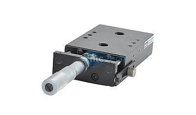 Parker Linear Slide Stage W Starrett Micrometer Top Dim 103mm X 68mm Slide 25mm