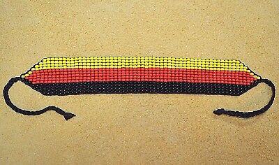 Loom Work Beaded Bracelets - South American Glass Seed Bead Loom Work Ceremony Bracelet Colombian Beadwork