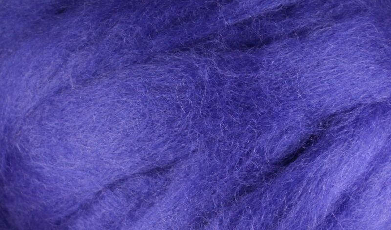Wool Roving - 1oz - Royal Purple