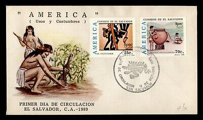 DR WHO 1989 EL SALVADOR FDC AMERICA  C243301