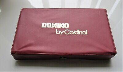 Domino Set by Cardinal Double 9 Black Dot Domino Red Vinyl Case 28 Pieces (Black Dot Domino Set)