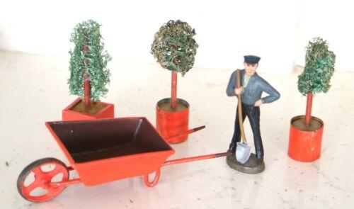 AC1899: Miniature 0 Gauge Railway Station Wheel Barrow with Shrub Planters