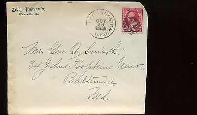 US New England Advertising cover (Colby University) 1893 Waterville, Maine