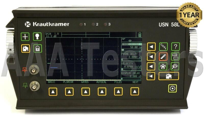 GE KrautKramer USN58L Ultrasonic Flaw Detector Thickness Gauge w/ SQPLS USN-58L