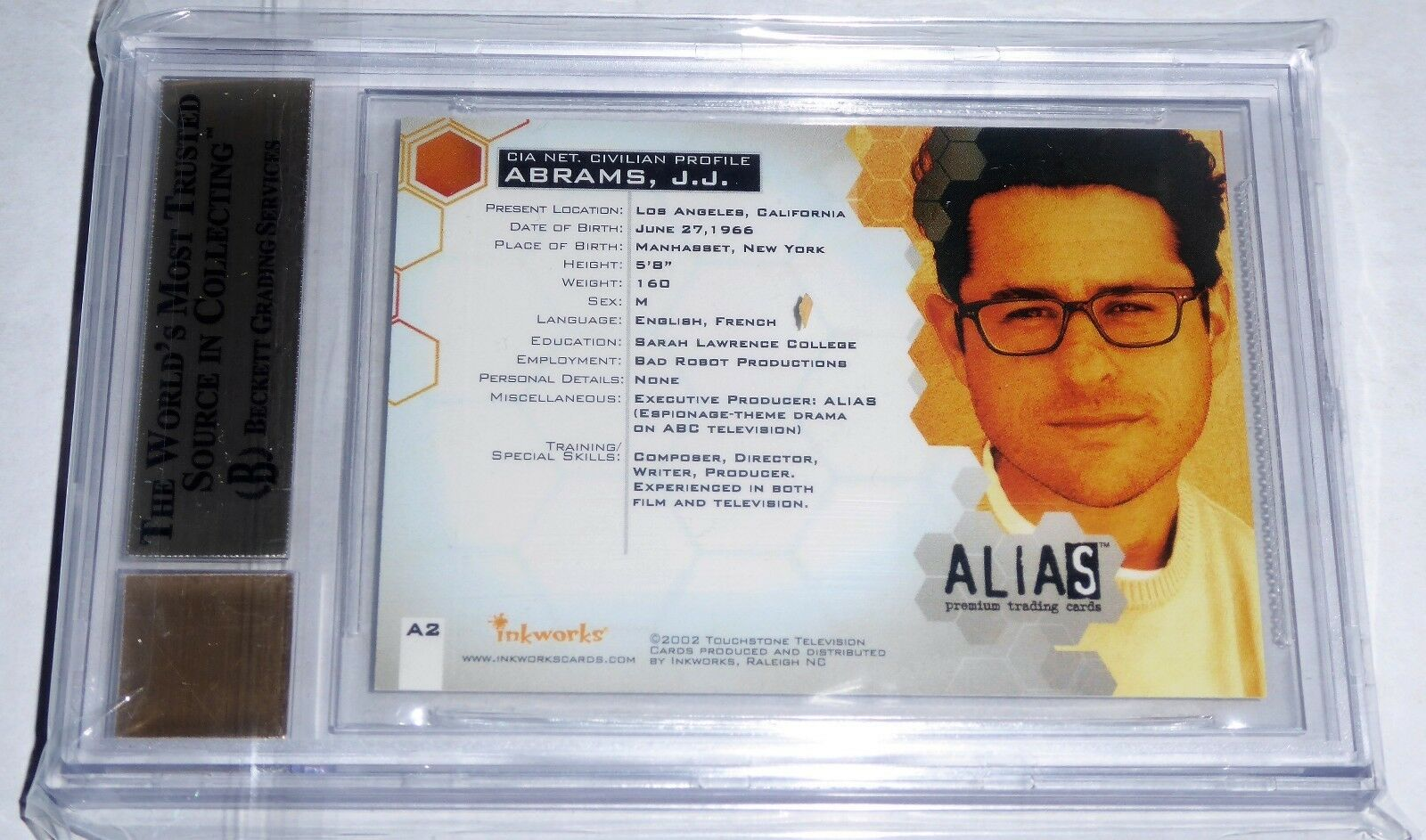 J.J. ABRAMS 2002 Alias Season 1 Autographs Signature BGS 9.5 GEM MINT Card Auto 3