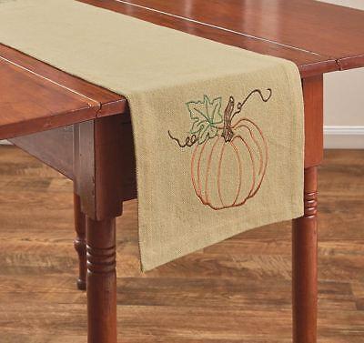 Rustic Pumpkin Table Runner 13x54 Primitive Country Fall Autumn Farmhouse (Pumpkin Table)