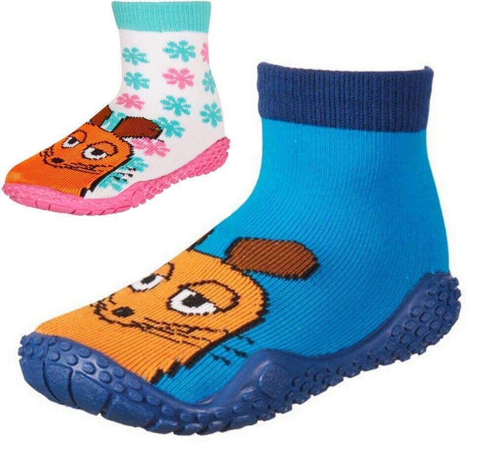 Playshoes Die Maus Aqua-Socken Badeschuhe Hüttenschuhe ABS Gr. 20/21 22/23 24/25