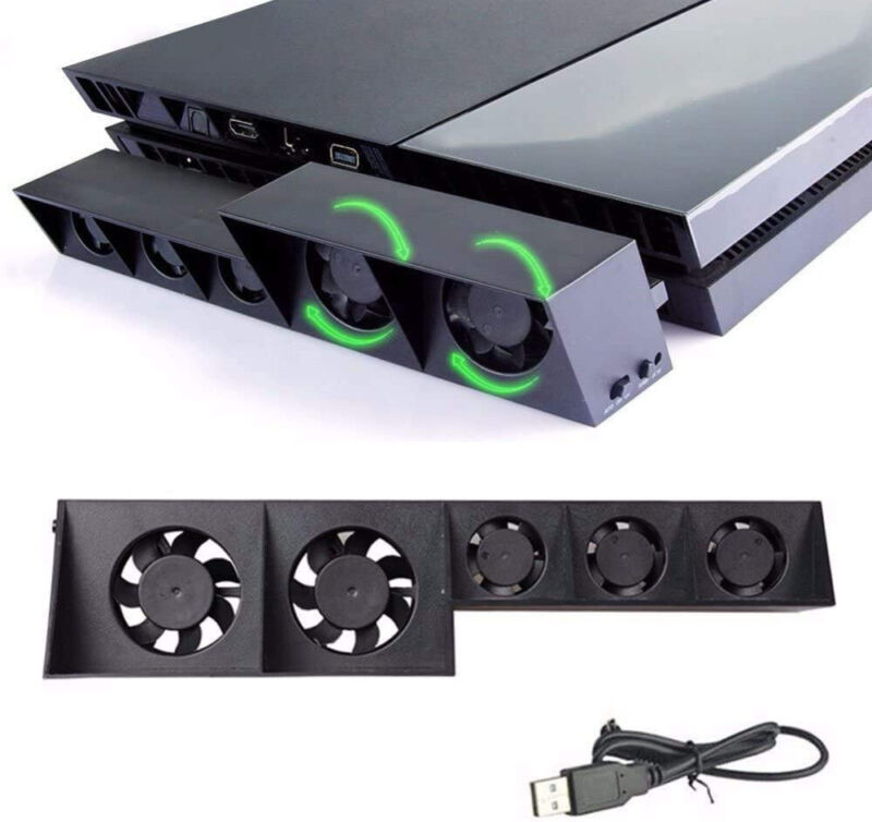 PS4 Cooling Fan USB External Turbo Temperature Control Sony Playstation Console