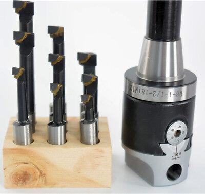 9pcs 12 Carbide Boring Bar Set Bridgeport Mill 2 Boring Head R8 M12