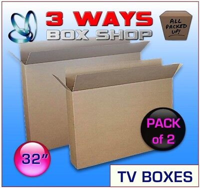2x 32 Inch LCD TV Picture Cardboard Removal Box