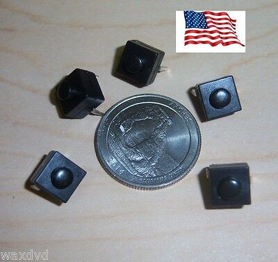 Mini Push Button 8.3mm On Off Switches Square 5 Weatherproof 30v Ship From Usa