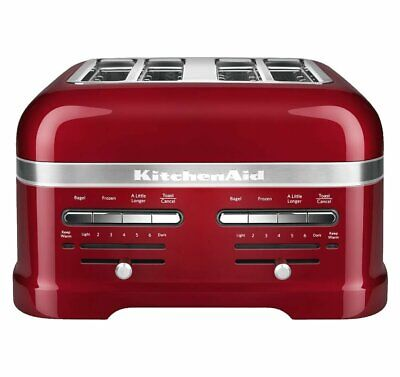 KitchenAid RKMT4203CA Candy Apple Red 4-Slice Pro Line Toaster