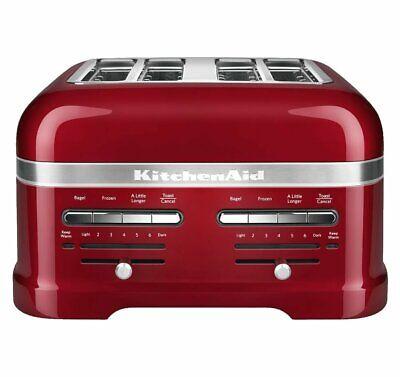 KitchenAid RKMT4203CA Candy Apple Red 4-Slice Pro Line Toaster