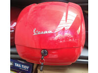 TOP BOX IN RED FOR VESPA SCOOTERS