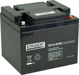 New 50Ah Strident battery for a mobility scooter or power chair - Free delivery up to 20 miles