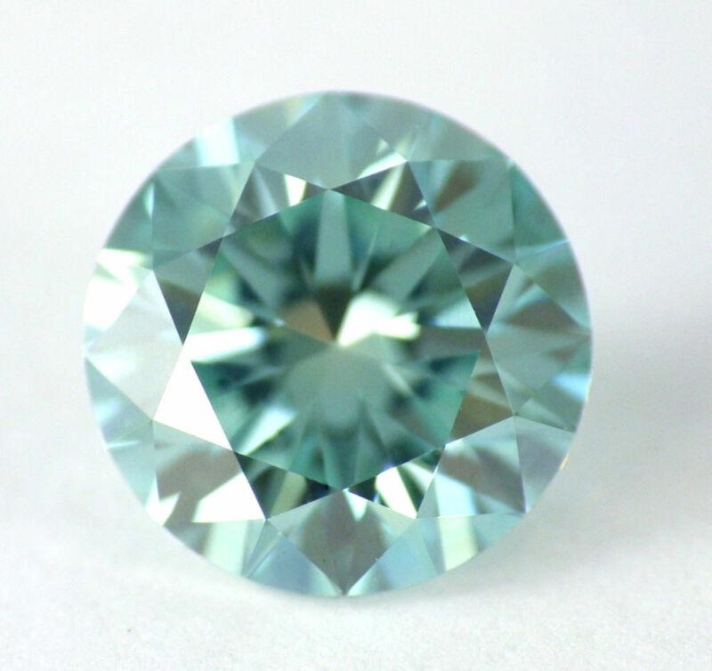 1.10 CT Loose Natural Diamond Fancy vivid Blue VVS Round Brilliant Cut Certified