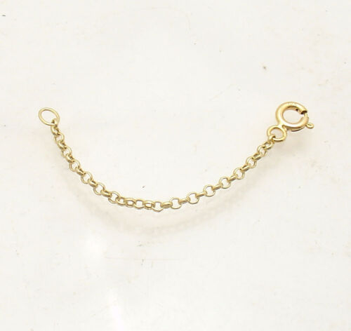 1.9mm Round Rolo Cable Chain Necklace Extender Real Solid 10K Yellow Gold