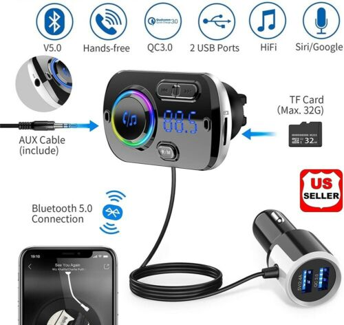Handsfree Wireless Bluetooth FM Transmitter Car Kit Mp3 Player with USB Charger Consumer Electronics