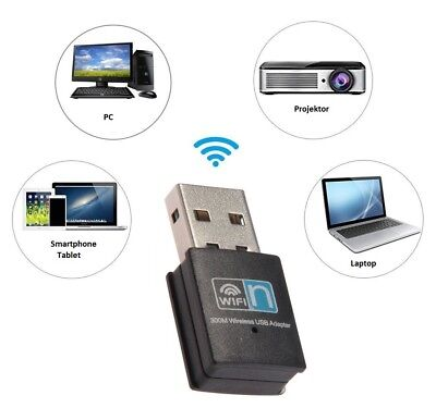 Mini WiFi WLAN Stick 300Mbit IEEE 802.11b/g/n Wireless USB Adapter Dongle (Mini Wireless-usb-adapter)