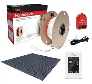 NuHeat Home Comfort Floor Heat Kit with Signature Thermostat, Heat Membrane, Heat Cable, MatSense Pro fault indicator