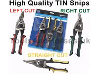 NEW - Tin Snips 3pc Aviation Compound Tin Snips Left - Right & Straight Cutting Tinner