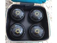 A set of Rinkmaster bowls modern day size 2