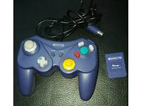 Nintendo game cube controller and memory card
