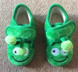 Green Slippers - Infant Size 6 - 7