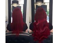 Mobile hairdresser based in Manchester - Tape extensions, LA weave, Micro extensions & Balayage