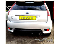 Ford Fiesta fitted a with Proflow Exhausts Stainless Steel Back and Tail Pipe